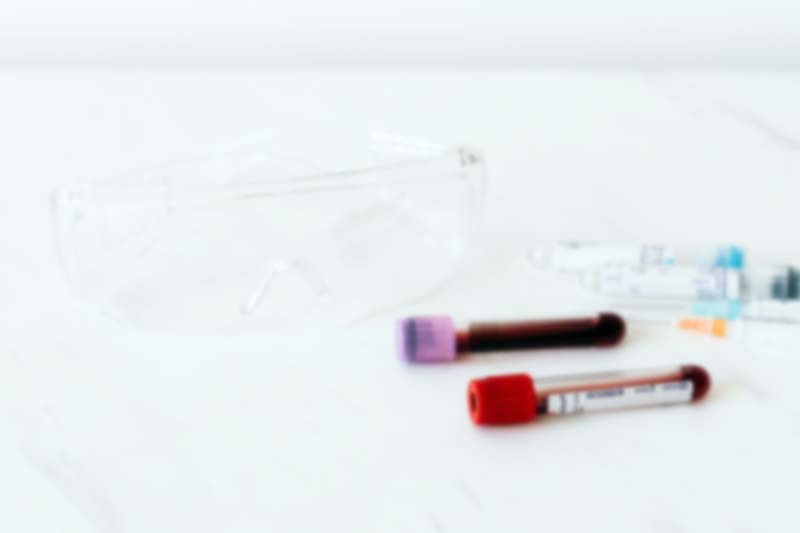 muestra de sangre para test covid